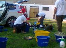 Agriturismo Al Giuggiolo - Preparativi prima della gara di pesca