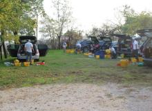 Pescatori all'agriturismo Al Giuggiolo