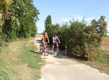 Al Giuggiolo - la pista ciclabile