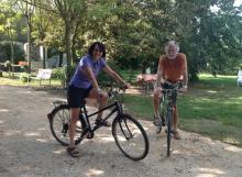 Cicloturisti al Giuggiolo